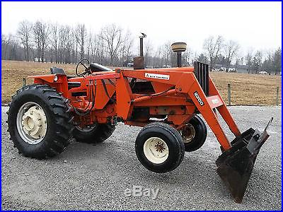 Allis Chalmers AC 185 Tractor & Front Hydraulic Loader Diesel No Reserve