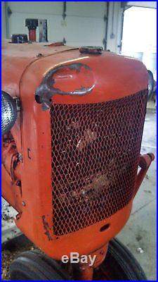Allis Chalmers C Tractor w/ 72 inch Woods Belly Mower
