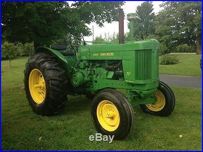 Antique John Deere 70 Tractor Standard. Power Steering. PTO. Live Hydraulic