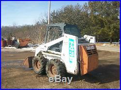 Bobcat 743 B Diesel Skid Loader Skidsteer NO RESERVE wheel tractor deere allis a