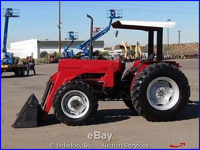 Case 385 4x4 Loader Utility Farm AG Tractor PTO 3-Point Hitch ROPS