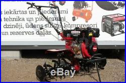 Cultivator Tiller 10HP Diesel E-starter + 3 ploughs with big wheels