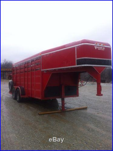 Delta 1998 gooseneck stock trailer. 16x6. Only used three times