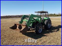 Deutz 6260 Tractor 61 HP Diesel mfwd with 455 deutz loader 4wd