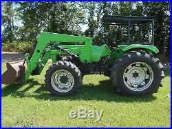 Deutz 6260 Tractor 61 HP Diesel mfwd with 455 deutz loader 4wd NO RESERVE