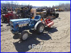 FORD 1100 Compact Tractor with BRUSH HOG MINT CONDITION 150 HRS! 4x4 4WD 3 PT PTO