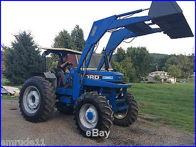 FORD 7610 TRACTOR 4X4 W/ LOADER THREE POINT HITCH 8 SETS AUXILLARY HYDRAULICS