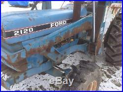Ford 2120 Diesel Loader Tractor Backhoe