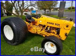 Ford 531 Tractor 60HP Diesel 8 Speed Flotation Turf Tires 540 PTO 1007Hrs