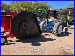 Ford Tractor 5640 PowerStar 40 Series with Bush hog batwing mower Low Hours 3017