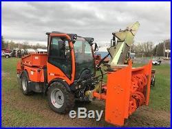 Holder C480 Tractor with Snowblower, Sweeper, Blade, Salt Spreader