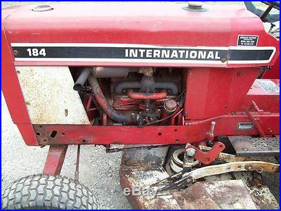 International 184 Compact Tractor with 60 Belly Mower, Sells No Reserve