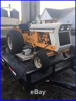 International Cub 185 Lo Boy Tractor with 3 point Hitch Belly Mower Creeper Gear