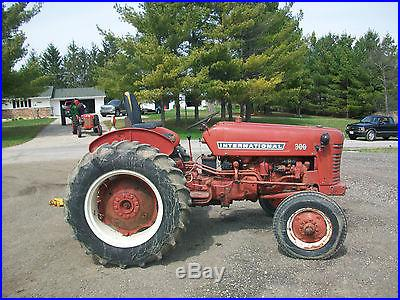 International Farmall 300 Utility Antique Tractior NO RESERVE 3 Point Hitch PTO