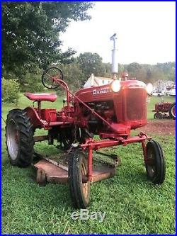 International Harvester Farmall Cub Tractor Mower Grass Brush Hydraulic