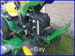 JOHN DEERE 2032R 4WD COMPACT TRACTOR 62D MOWER HYDRO LIFT With 439HRS VERY NICE