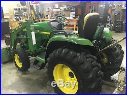 JOHN DEERE 4400 Tractor, Hydrostatic Drive, 4X4, Loader, 5' Box Blade
