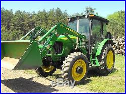 JOHN DEERE 5425 MFWD (4X4) CAB TRACTOR With553 LOADER