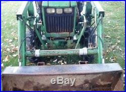 JOHN DEERE 650 COMPACT TRACTOR With 60 LOADER. 4X4. DIESEL. GOOD SHAPE