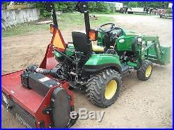 John Deere E X Loader Compact Tractor Tiller Ge