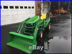 John Deere 1023E Diesel Tractor, 23HP, 4x4, 55 Hrs, JD Loader & JD Backhoe, Nice