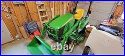 John Deere 1023e Tractor (171 hours), loader, mower private seller