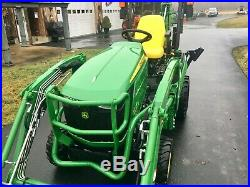 John Deere 1025R Diesel Tractor, 5 Hrs, 24 HP, 4x4, R4 Tires, Loader & Backhoe