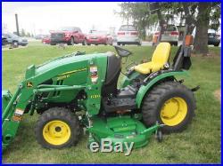John Deere 2025R Tractor Loader 62 Mower Deck