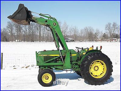 John Deere 2350 Tractor & Front Hydraulic Loader Diesel Nice