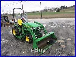John Deere 2520 Tractor, Mower & Loader, 4x4, 910 Hrs, Yanmar Diesel, 1 Owner