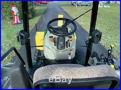 John Deere 3320 Tractor, Factory Cab, 4x4, Hydro, Snowblower Loader Snowplow