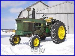 John Deere 4020 Diesel farm tractor synchro trans, wide front