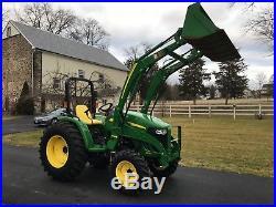 John Deere 4105 Diesel Tractor, 40HP, 75 Hrs, 4x4, Hydro, Ag Tires, JD Loader
