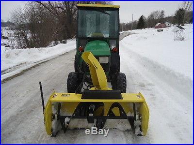 John Deere 4110 4X4 Mower and Snow Blower w/ Cab Nice Nice Nice