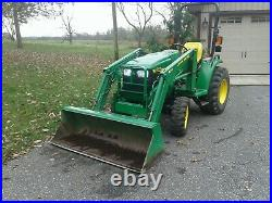 John Deere 4200 4X4 Compact Loader Tractor with Only 1665 Hours