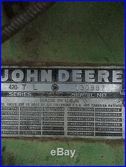John Deere 420 LP 430 320 520 620 720 820 4020