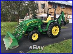 John Deere 4320 Diesel Tractor, 48 HP, 257 Hrs, 4x4, Hydro, Loader & Backhoe