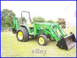 John Deere 4500 4 in 1 loader, back hoe Tractor