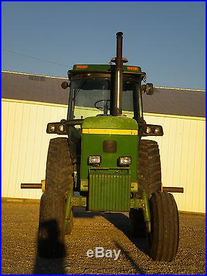John Deere 4640 diesel tractor runs great ready to work JD cab with Quad Range