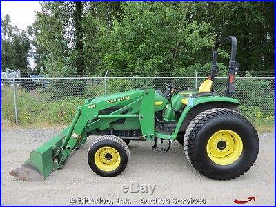 John Deere 4710 Compact Utility Tractor Yanmar Diesel 72 Bucket Front Loader