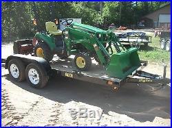 John Deere 4x4 Loader Tiller Combo Compact Tractor
