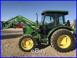 John Deere 5075E Farm Tractor. Cab. 4x4. Power Shuttle Loader. Fancy