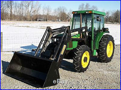 John Deere 5410 Tractor with Front Hydraulic Loader & Cab- Diesel Nice 4x4