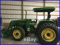 John Deere 5510 Tractor, MFWD & 541 Loader with 3 Attachments