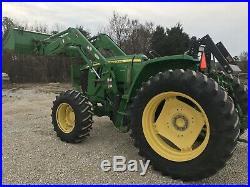 John Deere 6105D Farm Tractor. 4x4. Loader. Power Shuttle