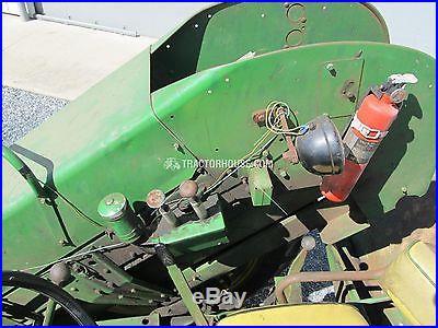 John Deere 630 tractor, 237 model corn picker