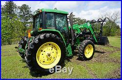 John Deere 6400 Tractor 4x4 Cab w-A/C Bush Hog 2846 Front Loader in Mississippi