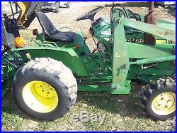 John Deere 650 4 X 4 Diesel Loader Tractor With Backhoe