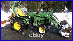 John Deere 650 Tractor, Loader, Four wheel drive, Diesel, 3 Point Hitch, PTO