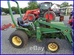 John Deere 650 Tractor RUNS MINT CLEAN! Utility 67 Loader 4WD YANMAR DIESEL